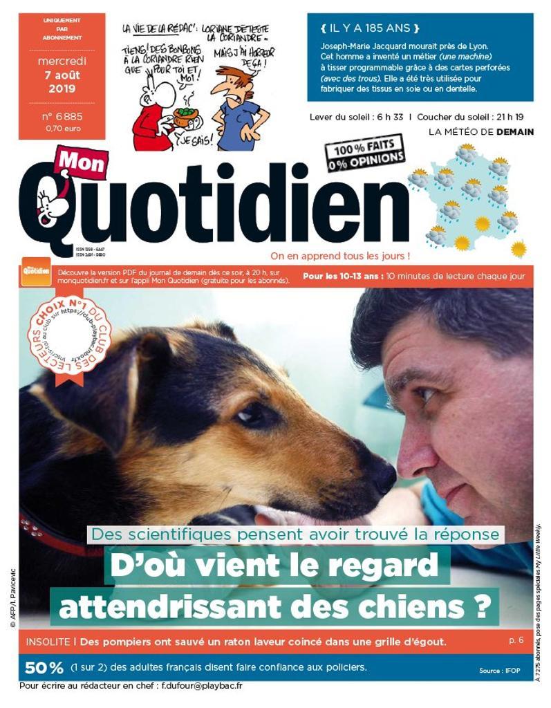 Mon quotidien : le seul journal pour les 10-14 ans qui paraît tous les jours   Saltet, Jérôme. Directeur de publication