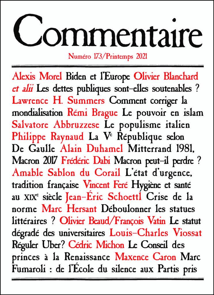 Commentaire | Casanova, Jean-Claude. Directeur de publication